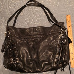 Nordstrom black leather handbag